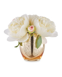 Peony In Gold Crackle Vase
