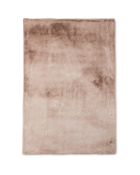 Large Brown Faux Fur Rug