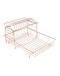 Rose Gold 2 Tier Dish Drainer