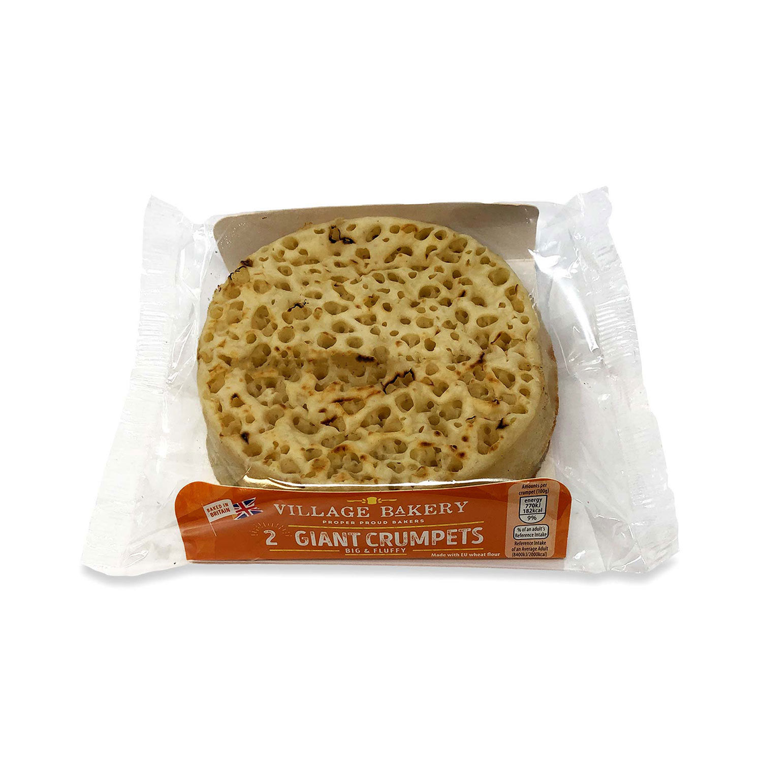 2 Giant Crumpets
