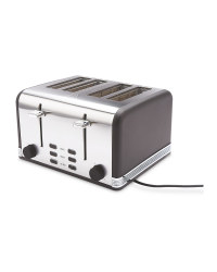 Ambiano Black 4 Slice Toaster