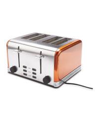 Ambiano Copper 4 Slice Toaster