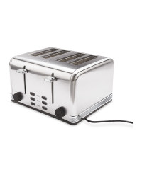 Ambiano Silver 4 Slice Toaster