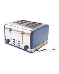 Ambiano Navy 4 Slice Toaster