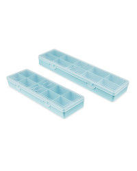 Teal 10 Compartment Case 2 Pack