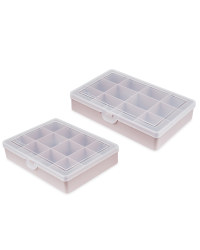 Pink 12 Compartment Case 2 Pack