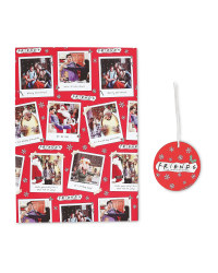 Friends Christmas Gift Wrap And Tag