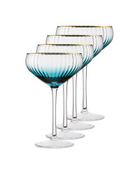 Crystalline Teal Saucer 4 Pack