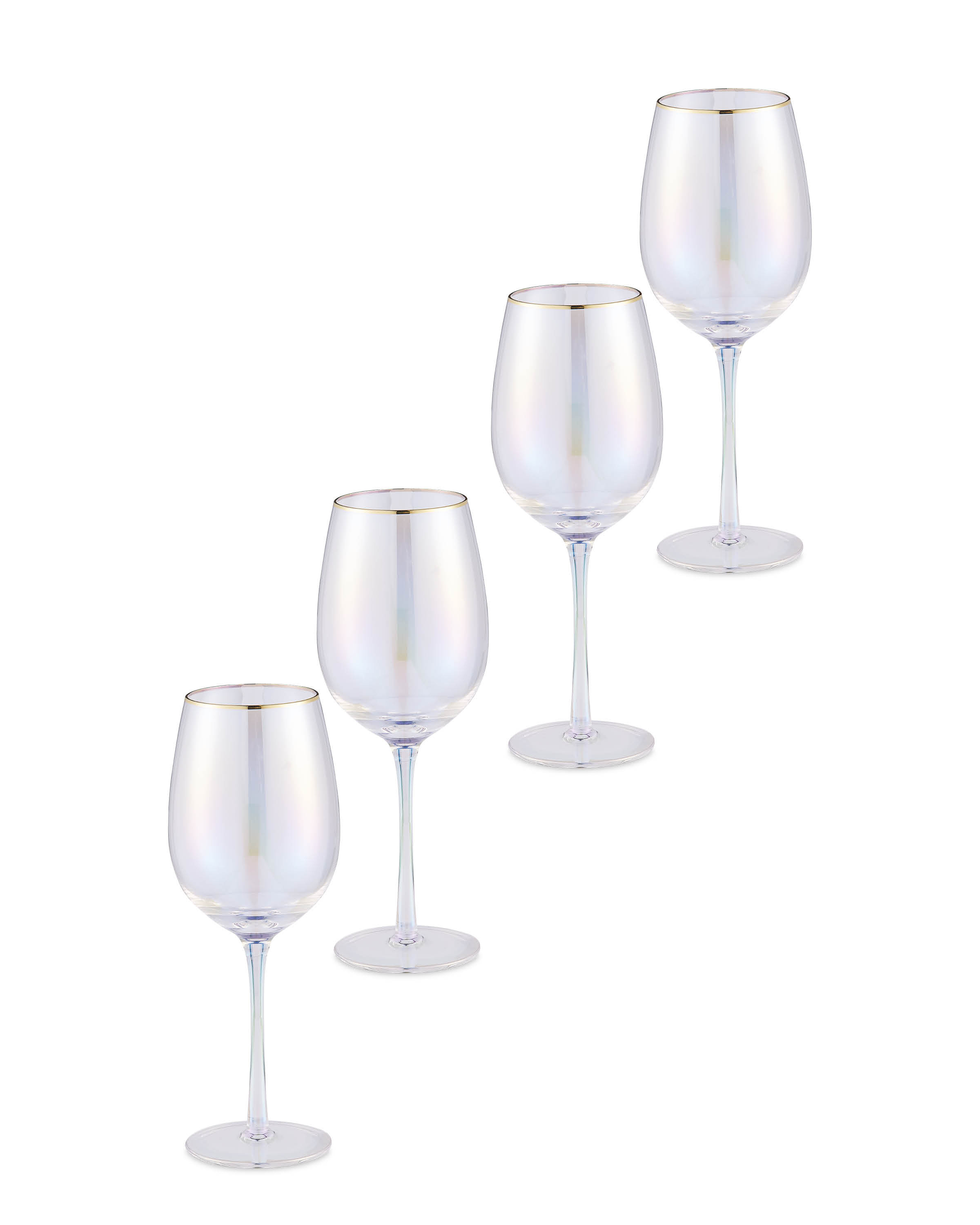 Pearlescent Wine Glasses 4 Pack