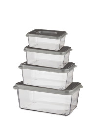 Grey Premium Food Containers 4 Pack