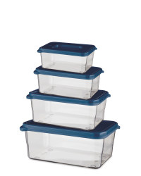 Blue Premium Food Containers 4 Pack