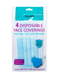Disposable Face Covering 4 Pack