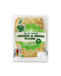 2 Puff Pastry Cheese & Onion Slices