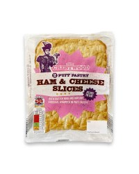 2 Puff Pastry Ham & Cheese Slices