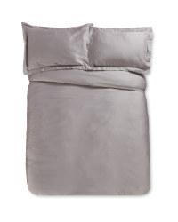 Grey Double Sateen Duvet Set