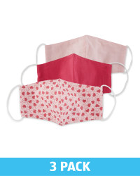 Children's Pink Face Covering 3 Pack