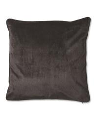 Black XL Velvet Effect Cushion