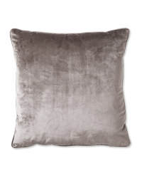 Charcoal XL Velvet Effect Cushion