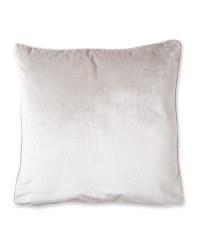 Light Grey XL Velvet Effect Cushion