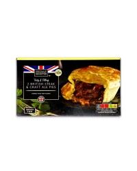 2 British Steak & Craft Ale Pies