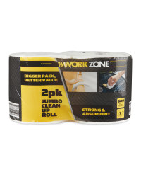 Workzone Jumbo Clean Up Roll 2 Pack