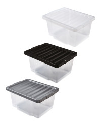 20L Storage Boxes 2 Pack