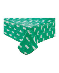 Christmas Tree Wipe Clean Tablecloth