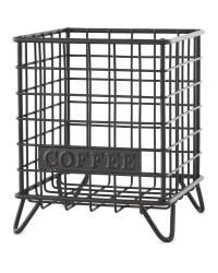 Black Coffee Mini Wire Storage