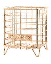 Gold Coffee Mini Wire Storage
