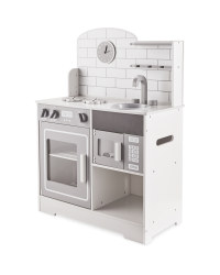 Large Grey Wooden Toy Kitchen