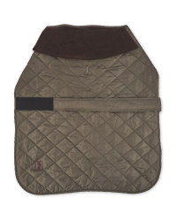 Khaki Green Quilted Dog Coat