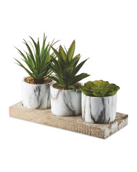 Artificial Succulent Trio