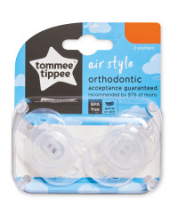 Clear Air Soother 2 Pack 6-18 Months