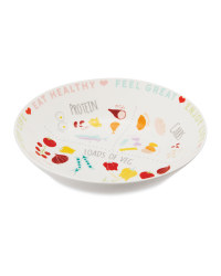 Illustrated Portion Control Bowl