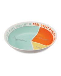 Colour Block Portion Control Bowl