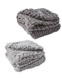 Kirkton House Chunky Knit Throw