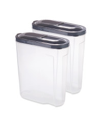 Grey Lid Cereal Containers 2 Pack