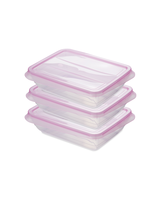 Pink 1000ML Fresh & Freeze Box 3 Pk