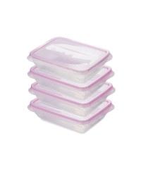 Pink 750ML Fresh & Freeze Box 4 Pack