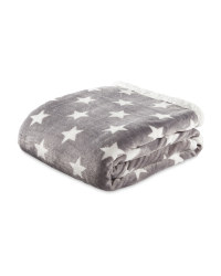 Grey Star Sherpa Fleece Blanket