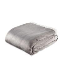 Grey Sherpa Fleece Blanket