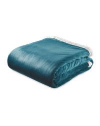 Teal Sherpa Fleece Blanket