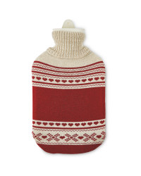Nordic Red Winter Hot Water Bottle