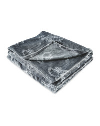 Friends Grey Icon Blanket
