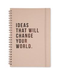 Script A4 Notebook Pink