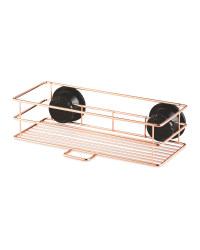 Rose Gold Shower Basket