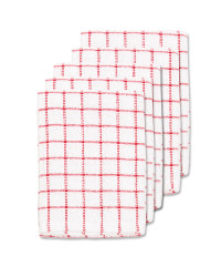 Red Terry Tea Towels 5 Pack