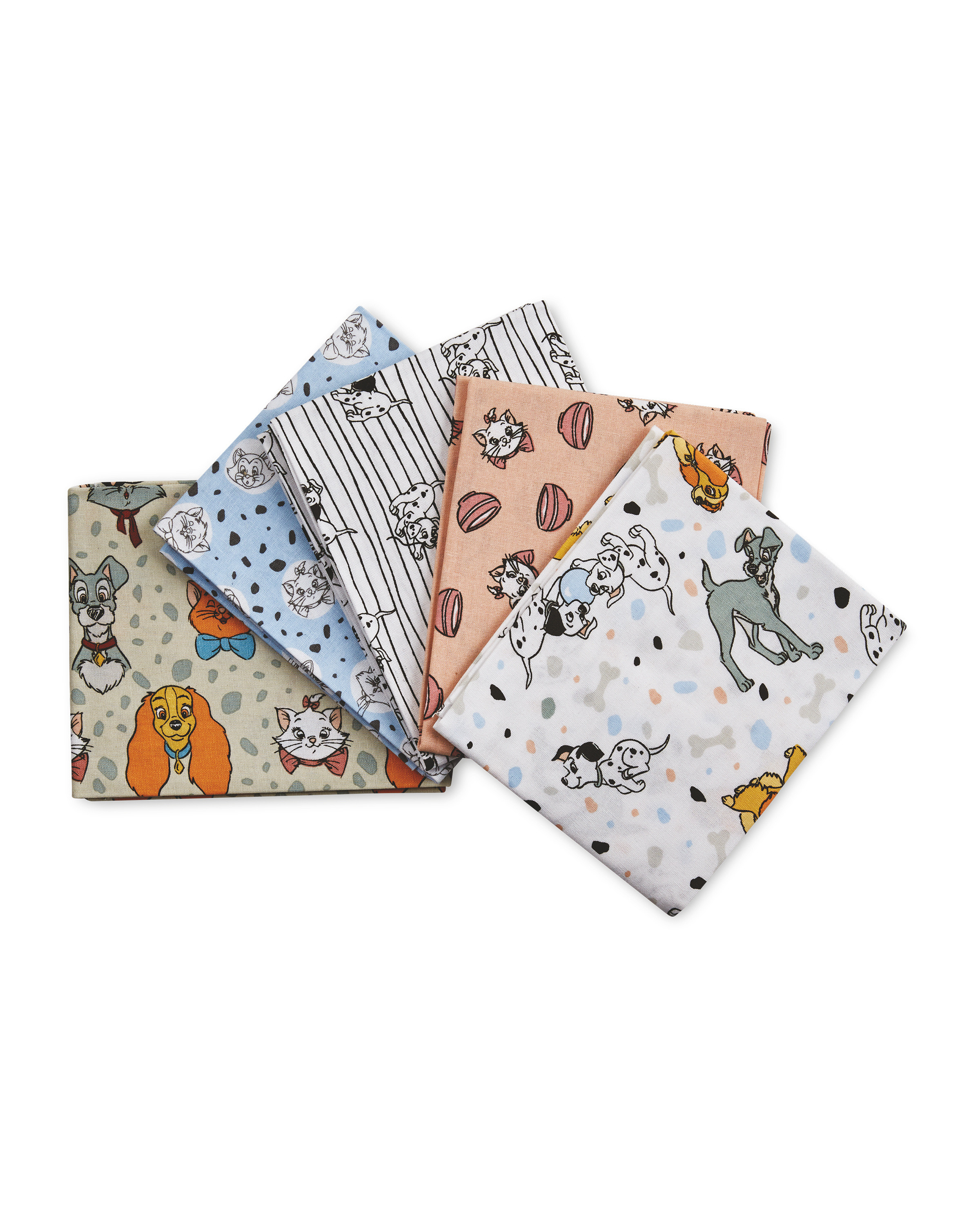 Disney Animals Fat Quarters 5 Pack