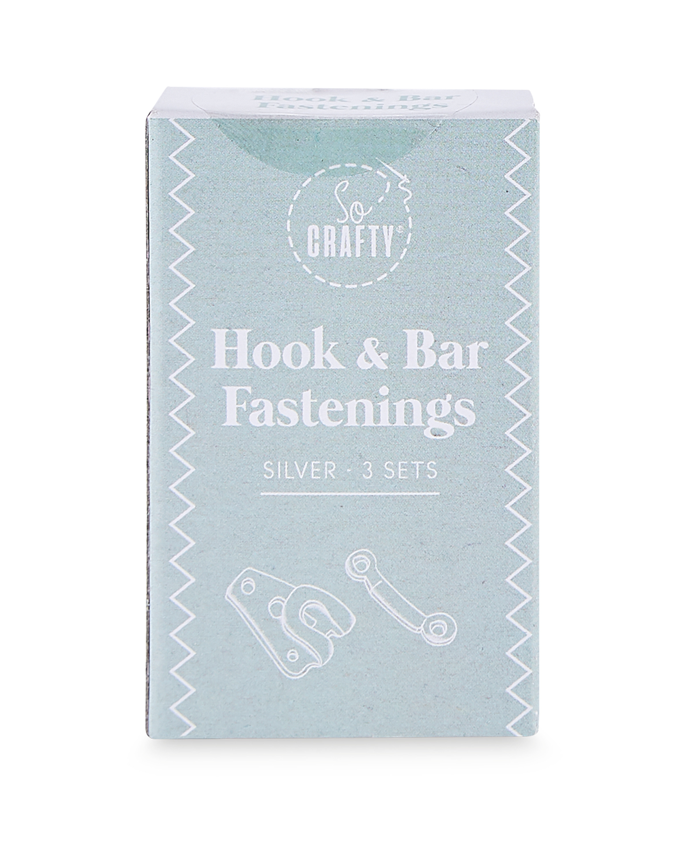 So Crafty Hook & Bar Fastener 3 Pack