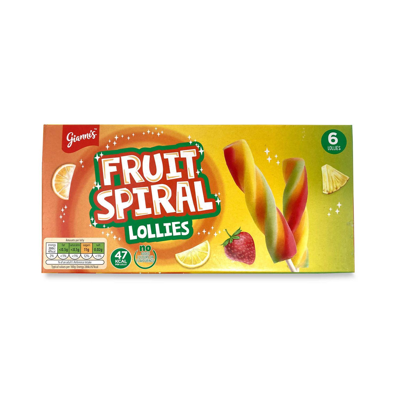 Fruit Spiral Lollies
